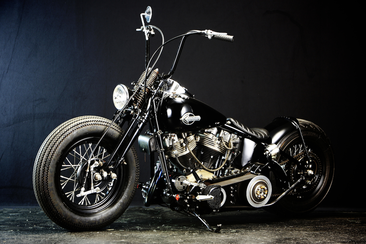 This custom…:WITH AN OLD STYLE H-D… YES, WE BELIEVE IT… 5