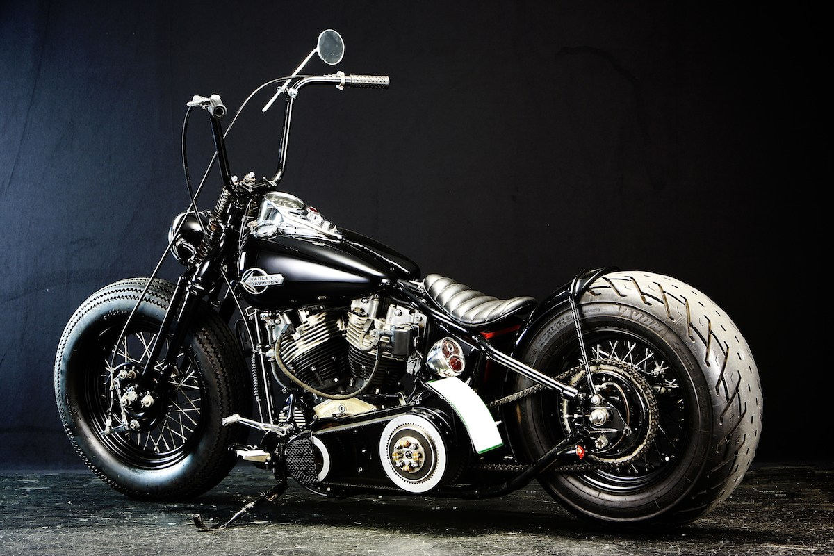 This custom…:WITH AN OLD STYLE H-D… YES, WE BELIEVE IT… 2