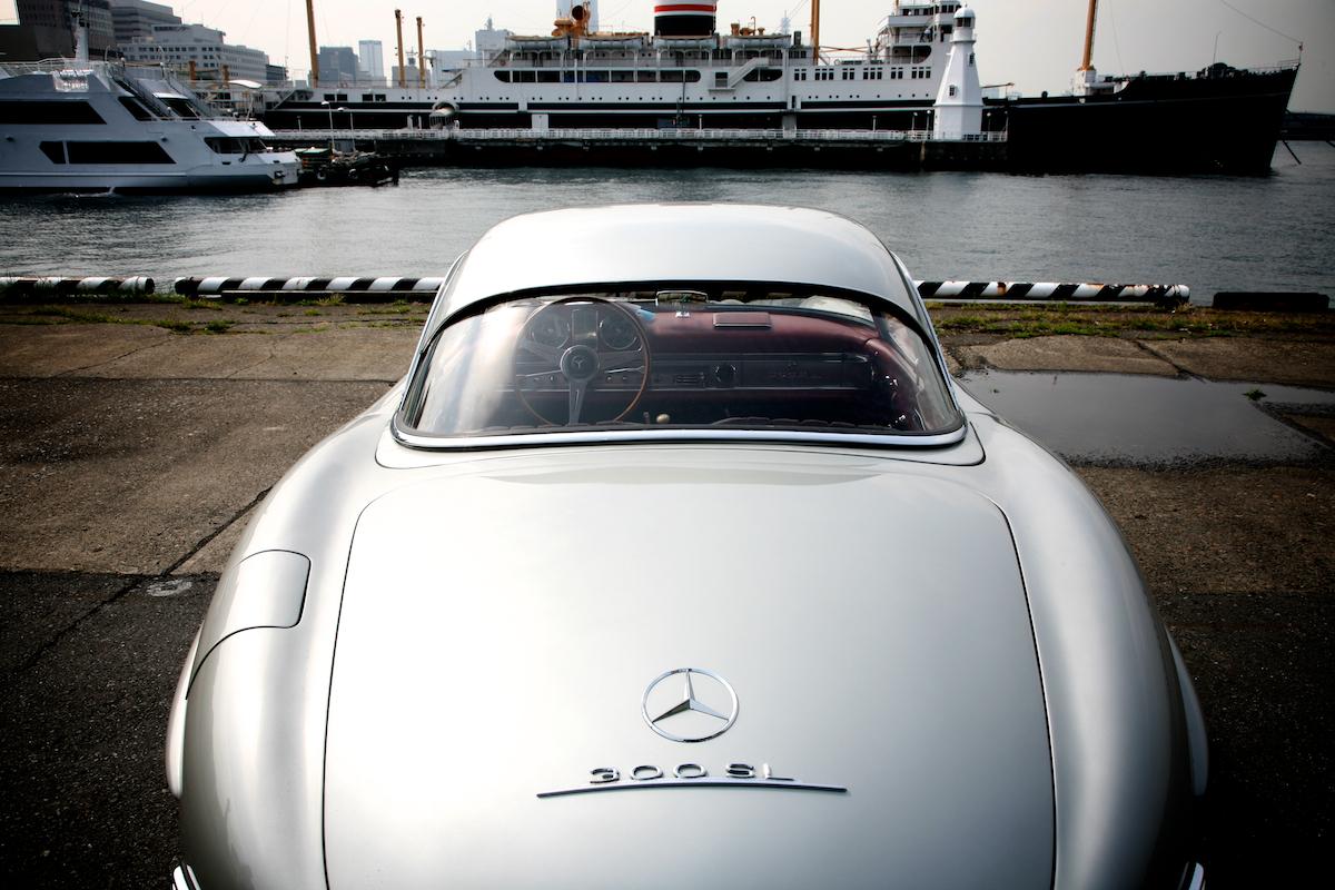 横浜 : 山下埠頭にて撮影:1957 MERCEDES-BENZ 300SL ROADSTER 5